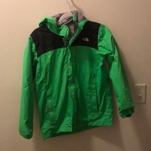 Boys northface rain jacket